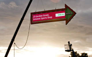 Дорожный указатель Nokia в Лондоне, Великобритания — обзор