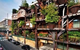 Живой дом в Турине, Италия — обзор