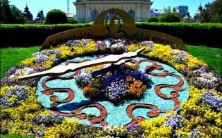 Цветочные часы в Вене, Австрия — обзор