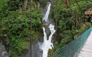 Лестница к водопаду Котел Дьявола, Эквадор — обзор