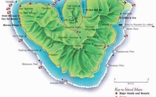 Остров Муреа, Polynésie française — обзор