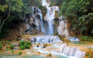 Водопад Куанг Си, Лаос — обзор