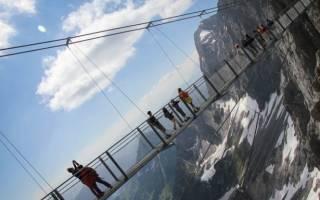 Мост на Леднике Дахштайн, Австрия — обзор