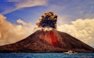 Вулкан Кракатау, Индонезия — обзор