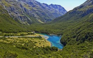 Голубое озеро, Новая Зеландия — обзор