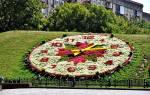 Цветочные часы на Поклонной горе, Россия — обзор
