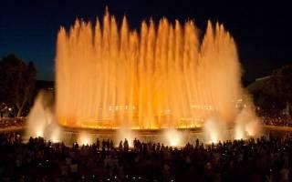 Магический фонтан Монжуика, Испания — обзор