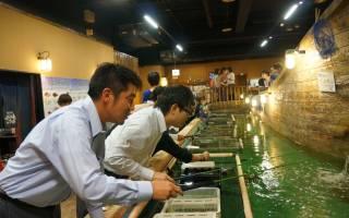 Ресторан Zauo Fishing, Япония — обзор