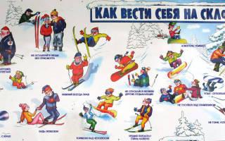 Обзор и отзывы лыжного курорта Белый кодекс FIS — правила поведения на склоне