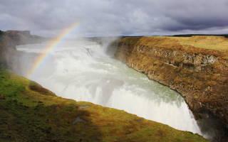 Водопад Гюдльфосс, Исландия — обзор