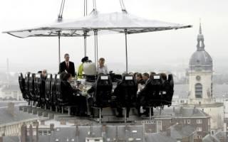 Ресторан Dinner in the Sky, Бельгия — обзор