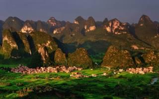 Карстовые отложения Южного Китая, Китай — обзор