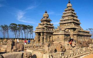 Город Махабалипурам, Индия — обзор