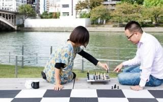 Шахматный парк в Осаке, Япония — обзор