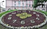Цветочные часы в Александровском парке, Россия — обзор