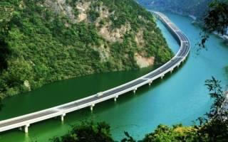 Мост через реку Вэй, Китай — обзор